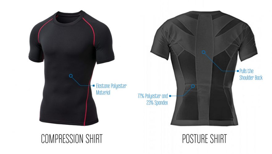 Difference between Posture shirts and Compression shirts