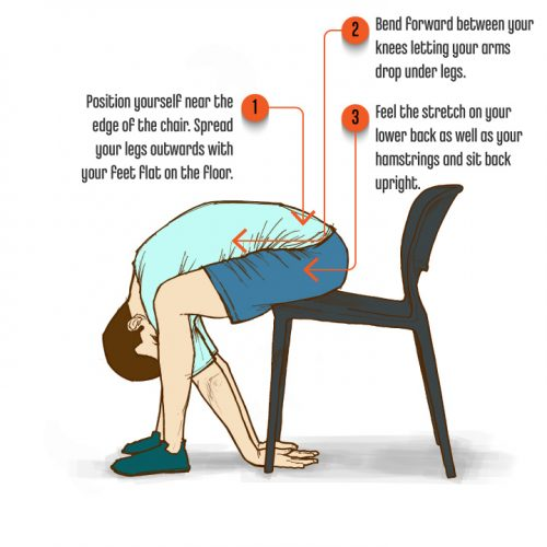 10 SittingPostureExercises SeatedLowerBackStretch psd