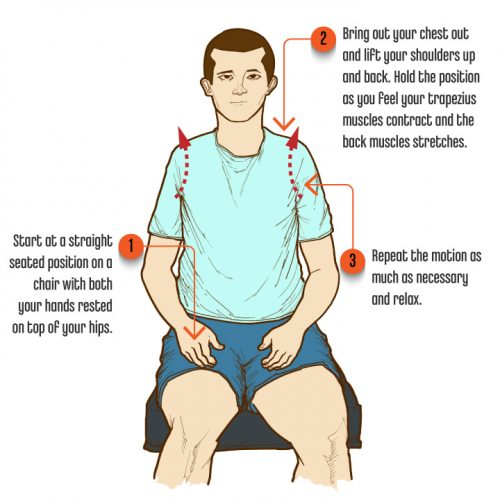 3 SittingPostureExercises ShoulderPostureShrugs