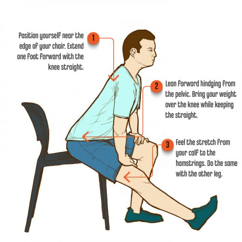9 SittingPostureExercises SeatedCalfStretch